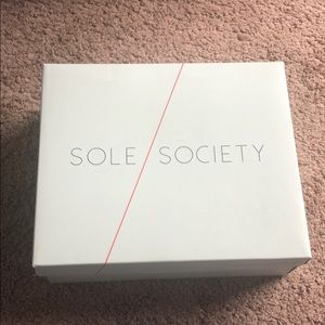 Sole Society Suede Block Heel Sandal